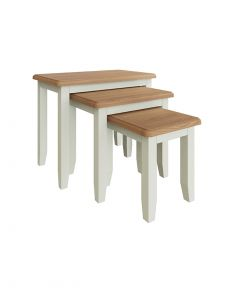 Georgia Painted White Nest of 3 Tables