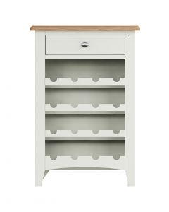 Georgia Painted White Wine Cabinet