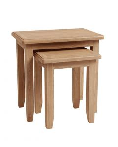 Georgia Oak Nest of 2 Tables