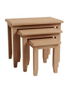 Georgia Oak Nest of 3 Tables
