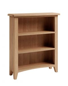 Georgia Oak Small Wide Bookcase