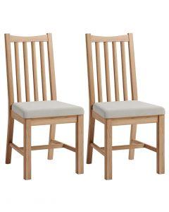 Georgia Oak Dining Chairs - Pair