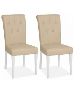 Hampstead Two Tone Bonded Leather Dining Chair - Pair