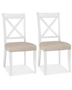 Hampstead Two Tone Cross Back Dining Chair - Pair