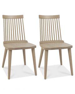 Ilva Spindle Dining Chairs Scandi Oak - Pair