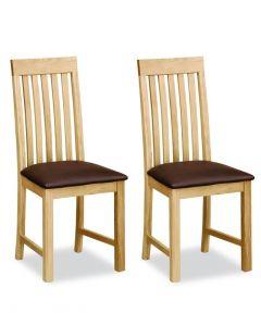 Laguna Dining Chairs with Pu Seat - Pair