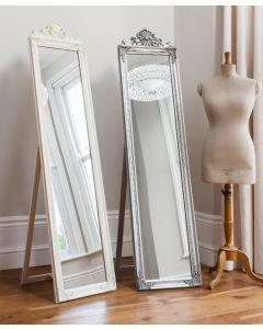 Lambeth White Wood Cheval Mirror