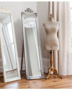 Lambeth Silver Wood Cheval Mirror