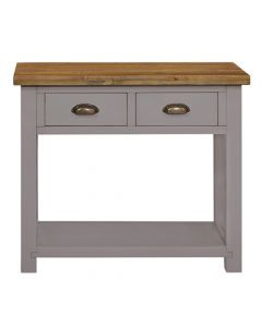 Cotswold Painted Grey 2 Drawer Console Table