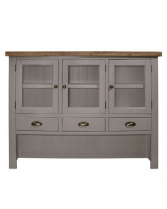 Cotswold Painted Grey Large Hutch