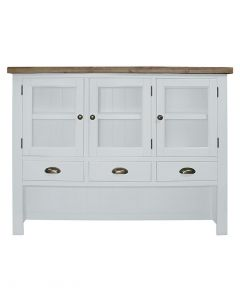 Cotswold Painted White Large Hutch