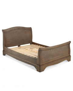 Toulouse Grey Washed Oak Double Sleigh Bed