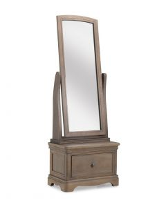 Toulouse Grey Washed Oak Cheval Mirror