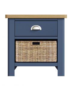 Sienna Painted Blue 1 Drawer 1 Basket Unit