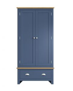 Sienna Painted Blue Double Wardrobe