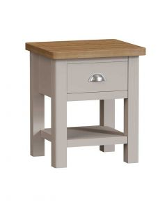 Sienna Painted Dove Grey Lamp Table
