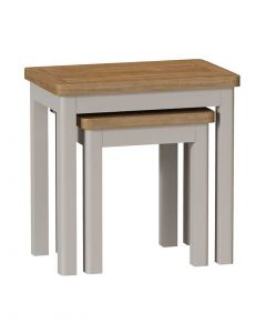 Sienna Painted Dove Grey Nest of 2 Tables