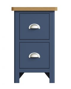 Sienna Painted Blue Small Bedside Cabinet