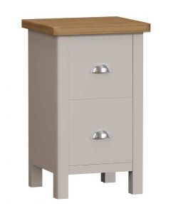 Sienna Painted Dove Grey Small Bedside Cabinet