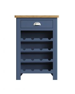 Sienna Painted Blue Wine Cabinet