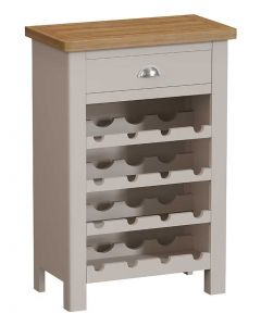 Sienna Painted Dove Grey Wine Cabinet