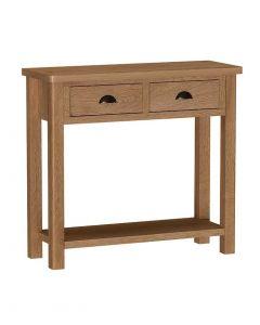 Sienna Oak Console Table