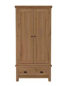 Sienna Oak Double Wardrobe