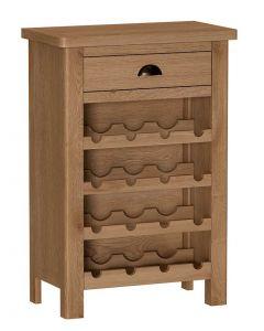 Sienna Oak Wine Cabinet
