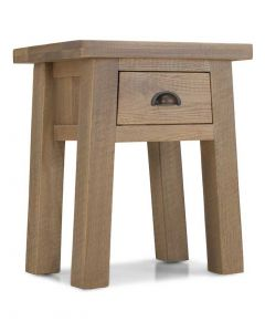 Rutland Rough Sawn Lamp Table with Drawer