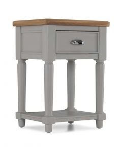 Warwick Painted Grey Lamp Table
