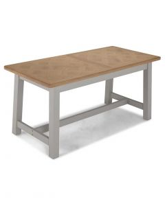 Warwick Painted Grey Extending Dining Table