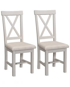 Sienna Painted Dove Grey Dining Chairs - Pair