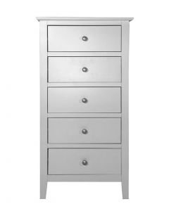Sussex Painted Grey 5 Drawer Tall Chest