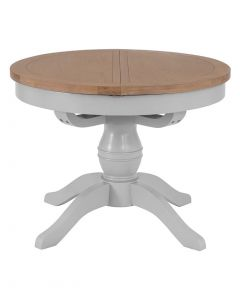 Geneva Grey Painted Round Extending Dining Table