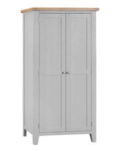 Geneva Grey Painted Full Hanging Wardrobe