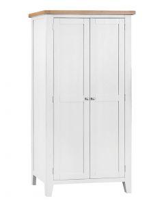 Geneva White Painted Full Hanging Wardrobe