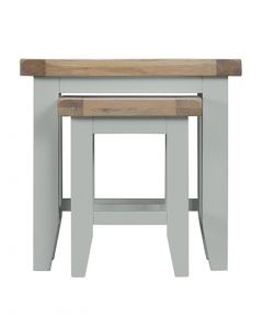 Geneva Grey Painted Nest of 2 Tables