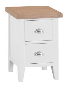 Geneva White Painted Small Bedside