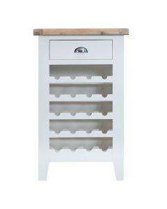 Geneva White Painted Wine Cabinet