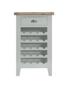 Geneva Grey Painted Wine Cabinet