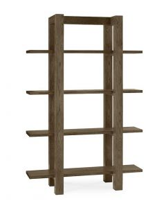Turin Dark Oak Open Display Cabinet