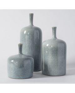 Vormark Set of 3 Blue Vases