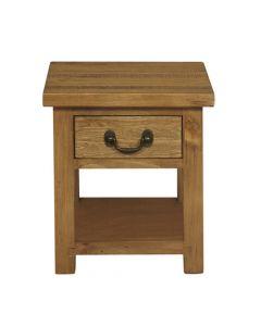 Cotswold Rustic Oak Lamp Table