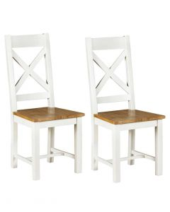 Wexford White Dining Chairs - Pair