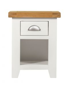 Wexford White 1 Drawer Bedside