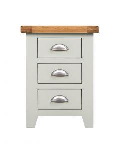 Wexford Grey 3 Drawer Bedside