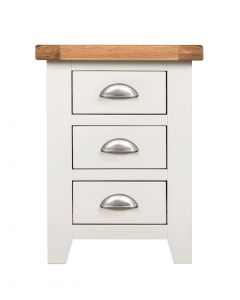 Wexford White 3 Drawer Bedside