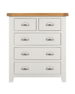 Wexford White 2 over 3 Chest of Drawers