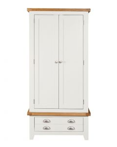 Wexford White Double Wardrobe with Drawer