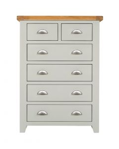 Wexford Grey 2 over 4 Drawer Chest